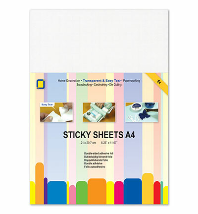 Jeje Sticky Sheets, 2-puolinen tarra-arkki, A4, 5 kpl