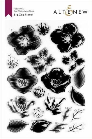 Altenew Zig Zag Floral -leimasinsetti