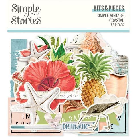 Simple Stories Vintage Coastal Bits Die-Cuts, leikekuvat