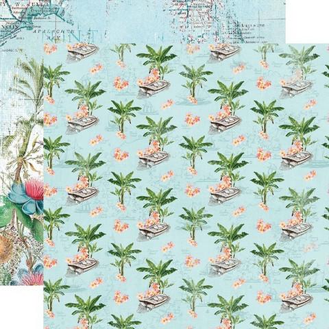 Simple Stories Vintage Coastal skräppipaperi Tropical Life