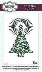 Creative Expressions stanssisetti Illuminated Christmas Tree