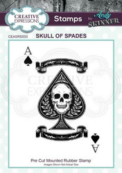 Creative Expressions Andy Skinner Skull of Spades -leimasin