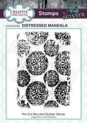 Creative Expressions Andy Skinner Distressed Mandala -leimasin