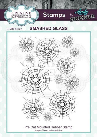 Creative Expressions Andy Skinner Smashed Glass -leimasin