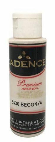 Cadence Premium Acrylic -akryylimaali, sävy Begonia, 70 ml