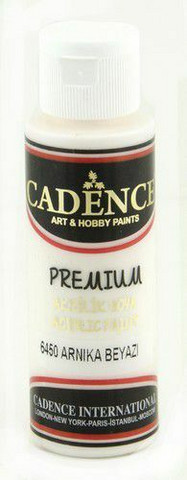 Cadence Premium Acrylic -akryylimaali, sävy Arnika White, 70 ml