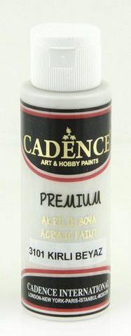 Cadence Premium Acrylic -akryylimaali, sävy Dirty White, 70 ml