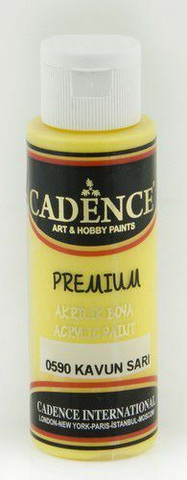 Cadence Premium Acrylic -akryylimaali, sävy Melon Yellow, 70 ml