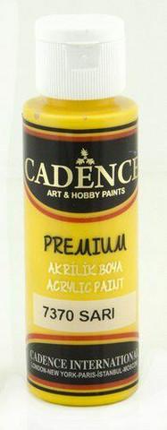 Cadence Premium Acrylic -akryylimaali, sävy Yellow, 70 ml