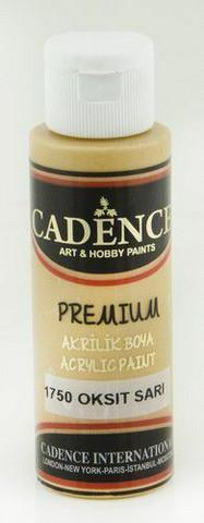Cadence Premium Acrylic -akryylimaali, sävy Oxide Yellow 70 ml