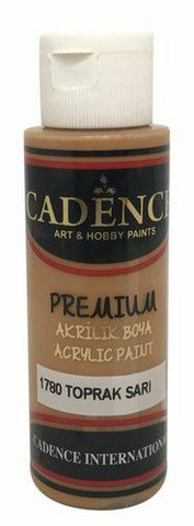 Cadence Premium Acrylic -akryylimaali, sävy Ground Yellow 70 ml