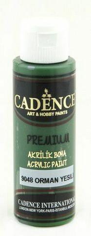 Cadence Premium Acrylic -akryylimaali, sävy Forest Green, 70 ml