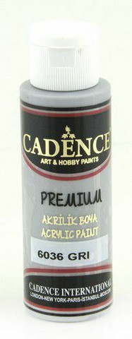 Cadence Premium Acrylic -akryylimaali, sävy Gray, 70 ml