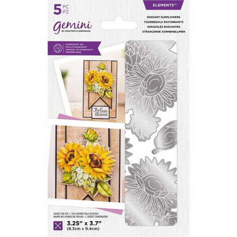 Crafter's Companion Floral Decoupage stanssisetti Radiant Sunflowers