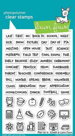 Lawn Fawn leimasinsetti Plan On It: School