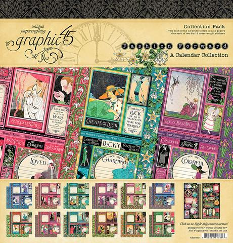 Graphic 45 -paperipakkaus Fashion Forward, 12