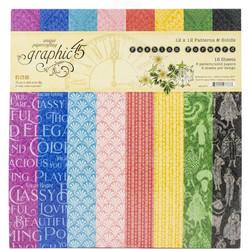 Graphic 45 -paperipakkaus Fashion Forward, Patterns & Solids 12