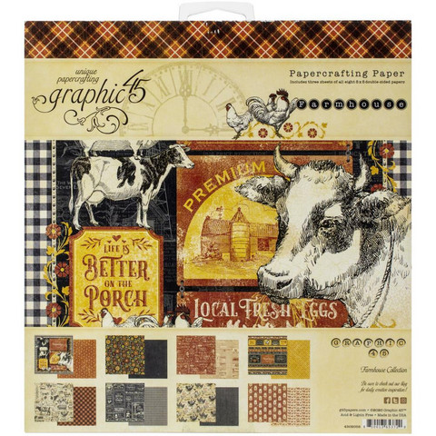 Graphic 45 -paperipakkaus Farmhouse, 8