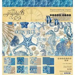 Graphic 45 -paperipakkaus Ocean Blue, 12