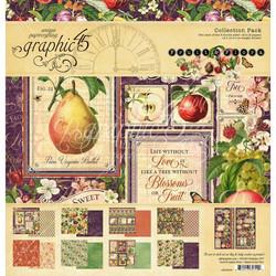 Graphic 45 -paperipakkaus Fruit & Flora, 12