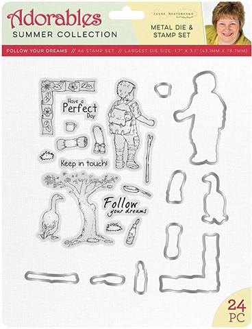 Crafter's Companion Jayne Nestorenki  leimasin- ja stanssisetti Follow Your Dreams