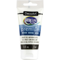 DecoArt Americana Premium Heavy Gel Medium Gloss, 75 ml