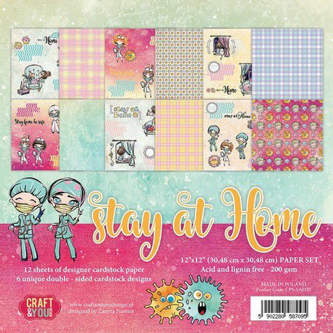 Craft & You paperipakkaus Stay At Home, 12