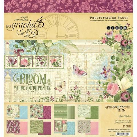 Graphic 45 -paperipakkaus Bloom, 8