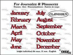 Crealies stanssisetti Journalzz & Plannerzz Months