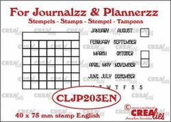 Crealies Journalzz & Plannerzz -leimasinsetti Monthly Tracker