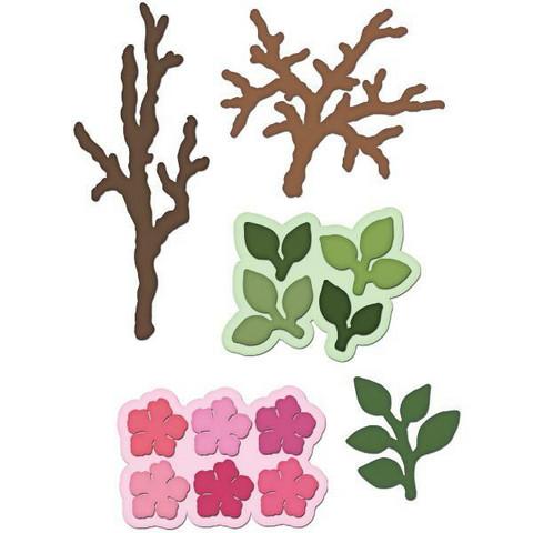 Heartfelt Creations Leafy Branch -stanssisetti