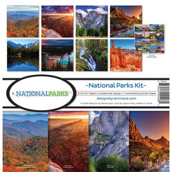 Reminisce National Parks -paperipakkaus 12