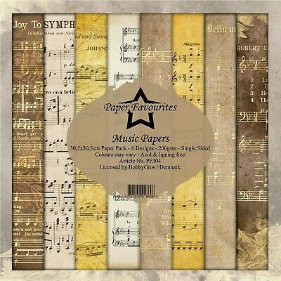 Dixi Craft Music Papers -paperipakkaus, 12