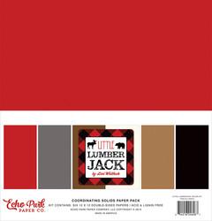 Echo Park Little Lumberjack Solids -paperipakkaus, 12