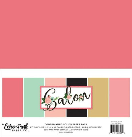 Echo Park Salon Solids -paperipakkaus, 12