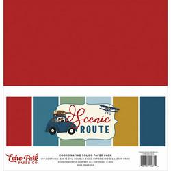 Echo Park Scenic Route Solids -paperipakkaus, 12