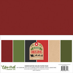 Echo Park My Favorite Christmas Solids -paperipakkaus, 12