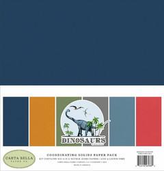 Carta Bella Dinosaurs Solids -paperipakkaus, 12