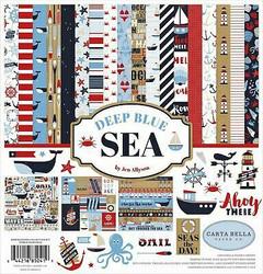 Carta Bella Deep Blue Sea -paperipakkaus, 12