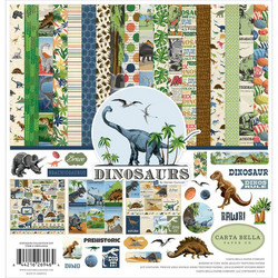 Carta Bella Dinosaurs -paperipakkaus, 12