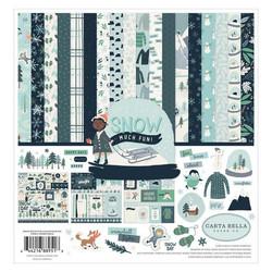 Carta Bella Snow Much Fun -paperipakkaus, 12