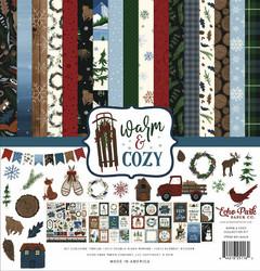 Echo Park Warn & Cozy -paperipakkaus, 12