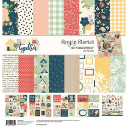 Simple Stories So Happy Together Collection Kit -paperipakkaus, 12