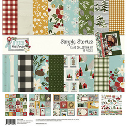 Simple Stories Winter Farmhouse Collection Kit -paperipakkaus, 12