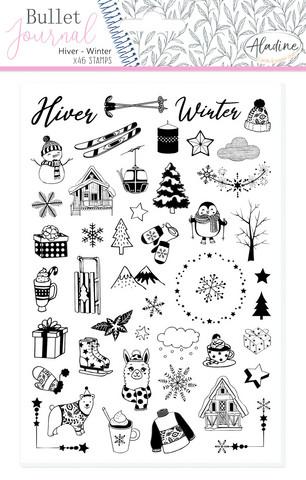 Aladine Bullet Journal foam -leimasinsetti Winter