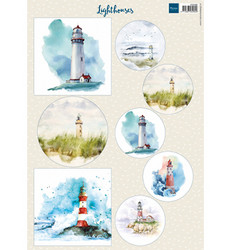 Marianne Design Lighthouses -korttikuvat