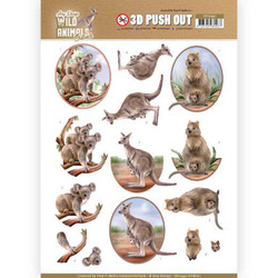 Amy Design Wild Animals Outback 3D-kuvat Kangaroo