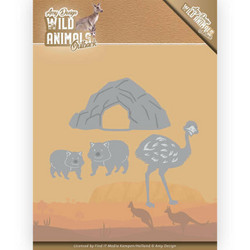Amy Design Wild Animals Outback stanssisetti Emu and Wombat