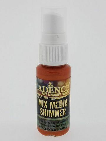 Cadence Mix Media Shimmer Spray, sävy Orange