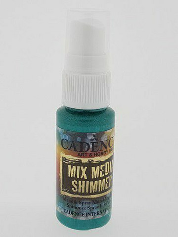 Cadence Mix Media Shimmer Spray, sävy Green
